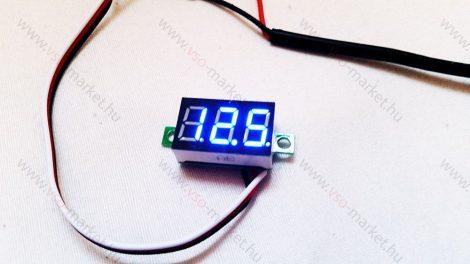 Digitális feszültségmérő, voltmérő DC 0-30V Kék