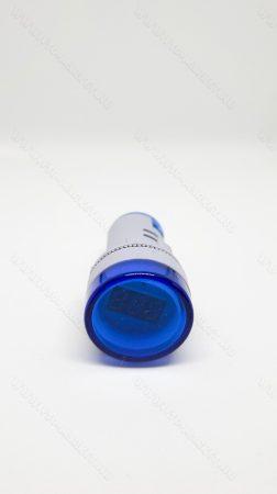 Digitális beépíthető feszültségmérő, voltmérő AC 20-500V Kék