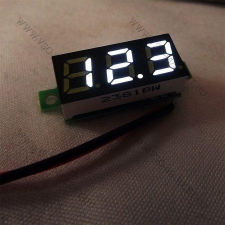 Digitális feszültségmérő, voltmérő DC 4.7-30V Fehér
