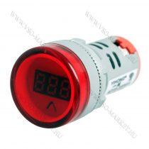 Digitális beépíthető feszültségmérő, voltmérő AC 60-450V Piros