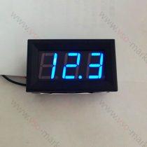 Digitális beépíthető feszültségmérő, voltmérő DC 5-30V KÉK