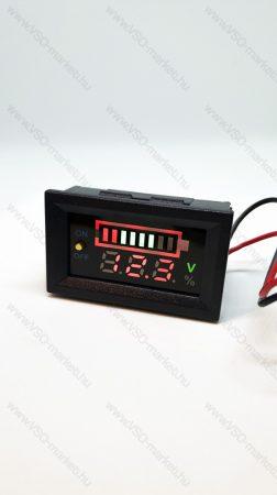 Digitális beépíthető feszültségmérő, kapcsolható sávos voltmérő DC 6-30V
