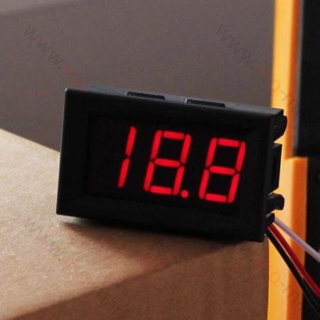 Digitális beépíthető feszültségmérő, voltmérő DC 0-30V PIROS