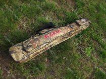 2 rekeszes, dupla zseb, terepmintás fegyvertáska 130 cm