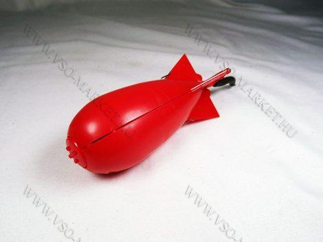 Etetőrakéta, csali, spomb, kicsi, mini rakéta Piros