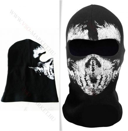 Call Of Duty, COD, stílusú koponya mintázatú maszk, motoros, airsoft, csontváz