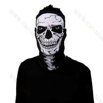 Koponya mintázatú kendő, motoros maszk, csontváz, skull Teljes koponya