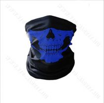 Koponya mintázatú kendő, motoros maszk, csontváz, skull, Kék