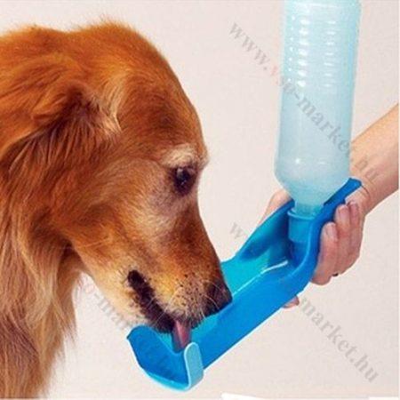 Kutya itató kemping palack, 250ml, Kék