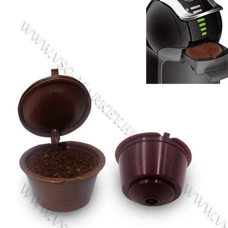 Kávékapszula, tölthető, újratölthető, Dolce Gusto