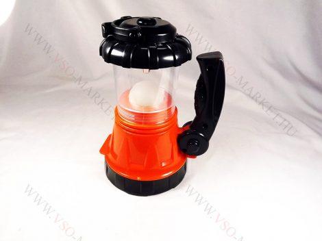 Akkumulátoros Power LED állófényes kemping lámpa Narancsárga