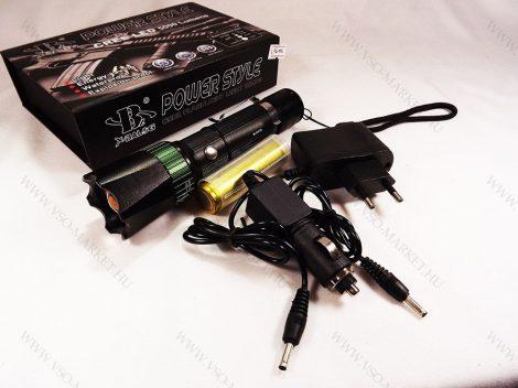 T6 CREE LED masszív elemlámpa, LED lámpa ZOOM akkumulátoros