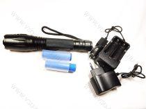 LED lámpa, zseblámpa, akkumulátoros tölthető elemlámpa, T6 Cree zoom
