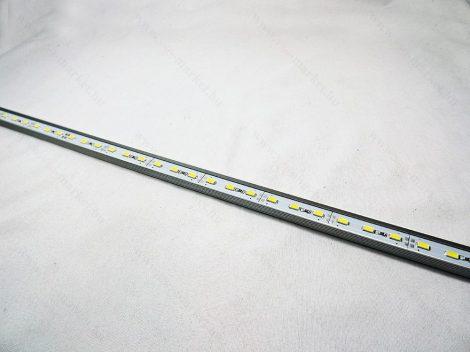 LED panel, alumínium sínben, 72db LED, ~1m, meleg fehér