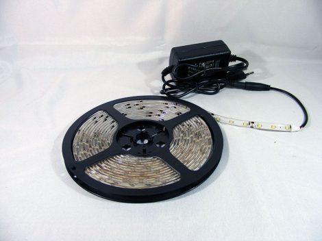 5m FEHÉR LED szalag, LED+ adapter 230V ledszalag