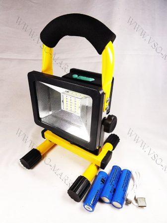 LED reflektor, LED szerelőlámpa, állványos szerviz lámpa, tölthető 24 LED 30W