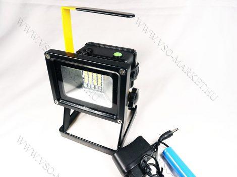 LED reflektor, LED szerelőlámpa, állványos szerviz lámpa, tölthető 30 LED