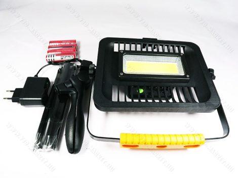 LED reflektor, LED szerelőlámpa, állványos szerviz lámpa, tölthető COB LED