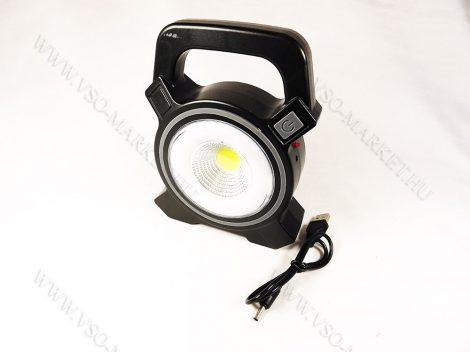 LED reflektor, LED szerelőlámpa, COB LED napelemes szerviz lámpa, tölthető lámpa