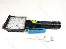 LED reflektor, LED szerelő lámpa, LED napelemes szerviz lámpa, tölthető lámpa 16 LED+ 6 LED