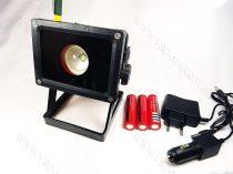 LED reflektor, LED szerelőlámpa, állványos szerviz lámpa, tölthető T6 CREE LED