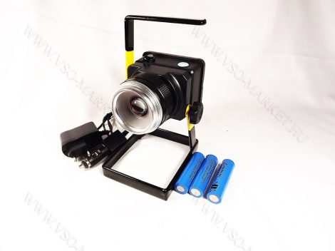 LED reflektor, LED szerelőlámpa, állványos szerviz lámpa, tölthető ZOOM T6 LED