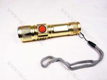 USB T6 CREE zoom-os akkumulátoros LED lámpa, elemlámpa, Arany zseblámpa