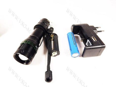 LED lámpa, zseblámpa, akkumulátoros tölthető elemlámpa, Q5 cree LED zoom