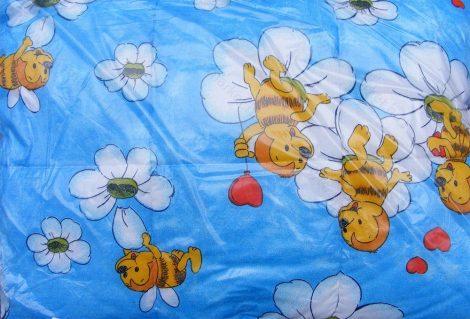 Gyerek paplan, babatakaró, ovis paplan garnitúra kék fiús méhecskés