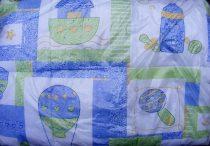 Gyerek paplan, babatakaró, ovis paplan garnitúra kék-zöld fiús