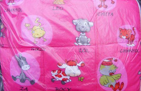 Gyerek paplan, babatakaró, ovis paplan garnitúra rózsaszín kisállatos