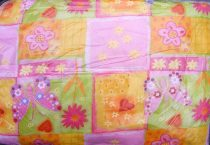 Gyerek paplan, babatakaró, ovis paplan garnitúra, rózsaszín lepkés