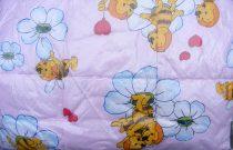 Gyerek paplan, babatakaró, ovis paplan garnitúra rózsaszín méhecskés