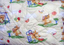 Gyerek paplan, babatakaró, ovis paplan garnitúra, sárga elefántos