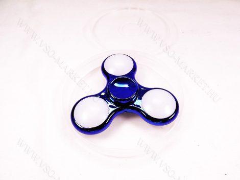 Stresszoldó pörgettyű, kézi trükk eszköz, stressz,  Fidget Spinner Hand Spinner Króm sötét kék