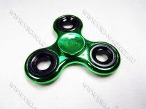 Stresszoldó pörgettyű, kézi trükk eszköz, stressz,  Fidget Spinner Hand Spinner Króm zöld