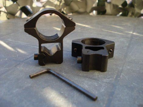 Céltávcső, távcső szerelék, kétrészes 11 mm magasított