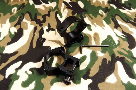 Céltávcső, távcső szerelék, kétrészes 30/20mm magasított