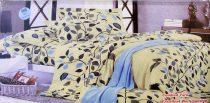 Krepp ágyneműhuzat, 6 részes krepp ágynemű, krémszínű leveles