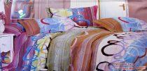 Krepp ágyneműhuzat, 6 részes krepp ágynemű, színes csíkos