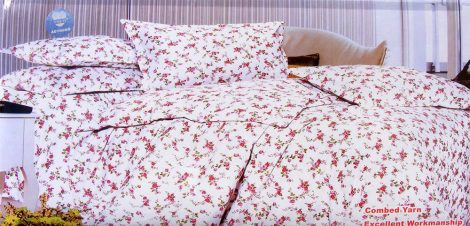 Krepp ágyneműhuzat, 6 részes krepp ágynemű, fehér apró virágos