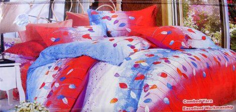 7 részes ágynemű garnitúra, piros kék csíkos