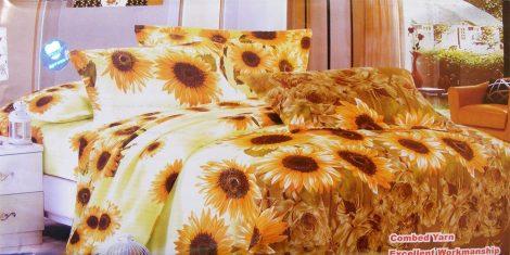7 részes ágynemű garnitúra, sárga napraforgó