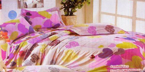 7 részes ágynemű garnitúra, színes szíves