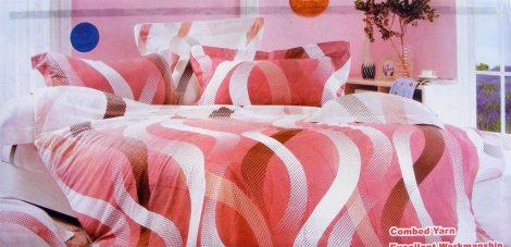 7 részes Krepp ágyneműhuzat garnitúra, krepp ágynemű, rózsaszín csíkos