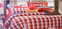 7 részes Krepp ágyneműhuzat garnitúra, krepp ágynemű, piros kockás