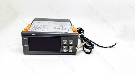 Digitális hőmérséklet szabályzó termosztát, hőszabályzó relé, 12V