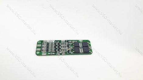 Akkumulátor töltésvezérő áramkör, akku töltő áramkör 3S 20A 18650 12,6 V