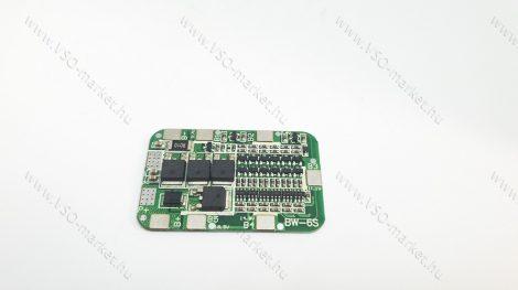 Akkumulátor töltésvezérő áramkör, akku töltő áramkör 6S 15A 18650 25,5 V