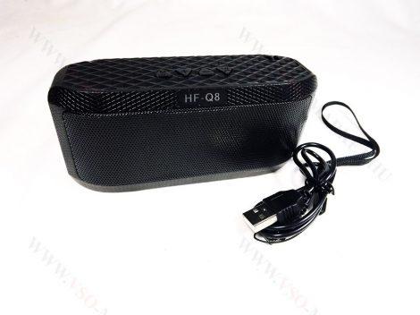 Bluetooth hangszóró, zenelejátszó, mp3 lejátszó, USB hangfal, rádió Fekete